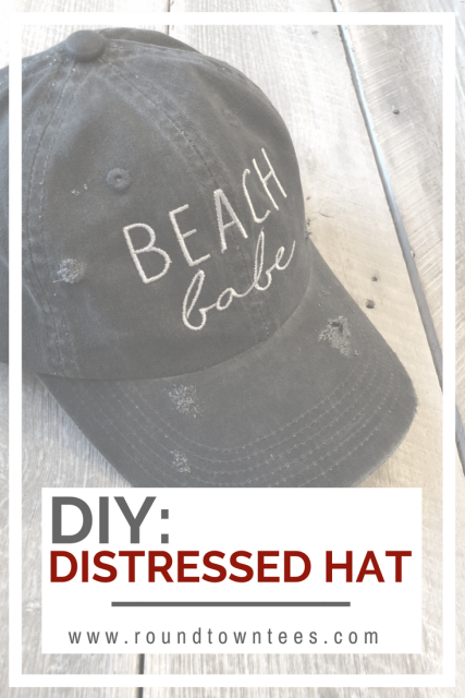 DIY: Distress Your Own Hat